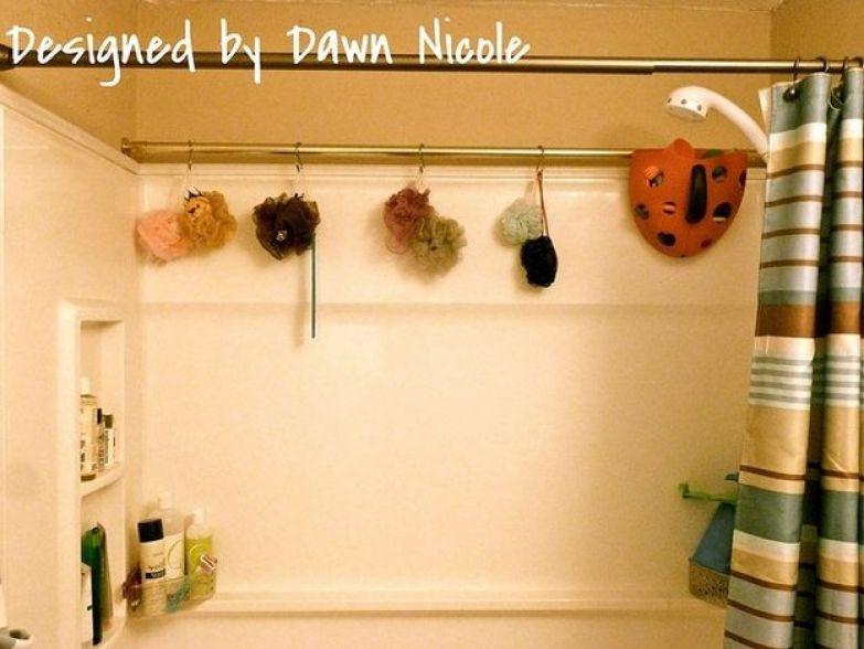 Дополнительная перекладина в ванной дизайн, полезное, совет
