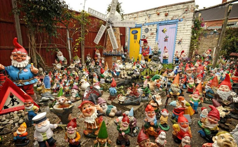 Retired window cleaner Ron Broomfield has turned his cottage into a shrine for gnomes — 1,600 of them. The 77-year-old became obsessed with model dwarves 50 years ago when he bought a small group for his garden. He has since amassed a remarkable collection that is thought to be worth over £40,000.