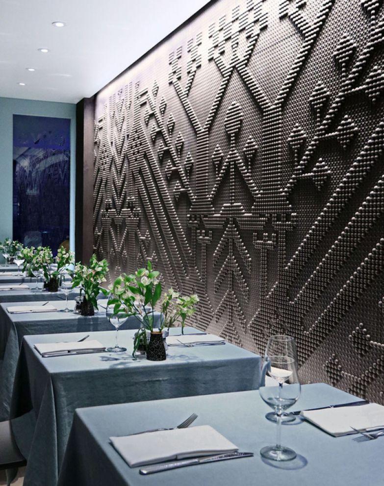Кафе с «тканой стеной» в Лондоне