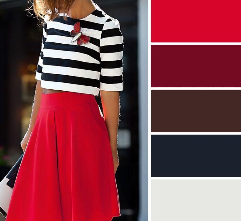 сочетания цветов одежды