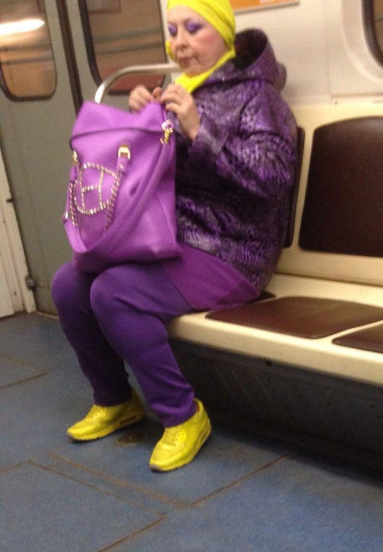 23. На найках и в фиолетовых штанах люди, метро, мода, настроение