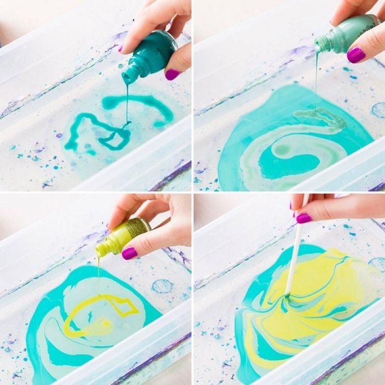 как использовать цветной лак
