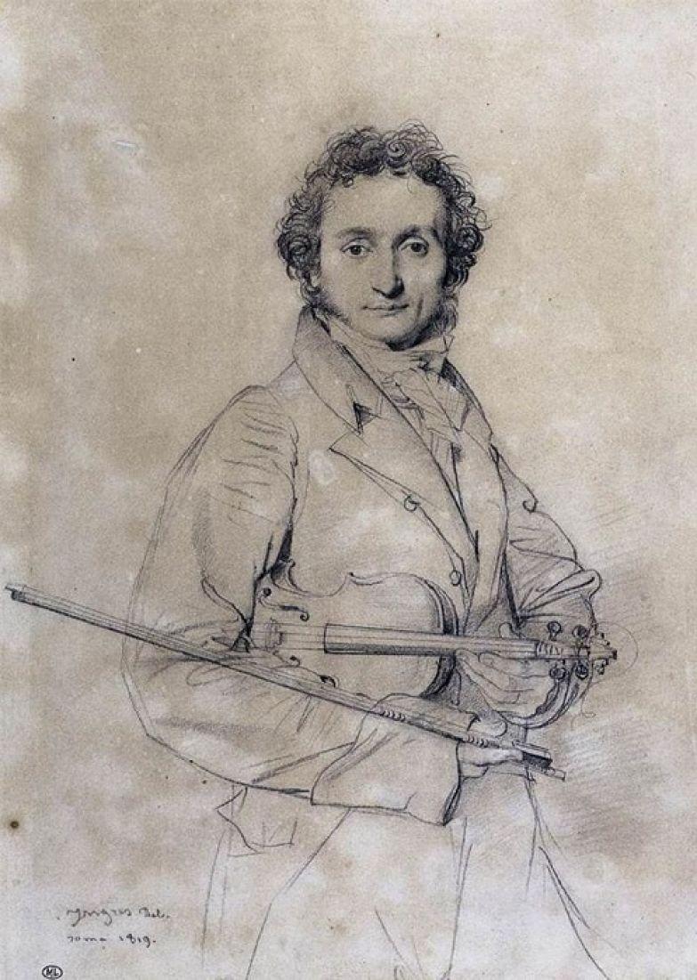 Портрет Паганини от его современника Жана Огюста Доминика Энгра.