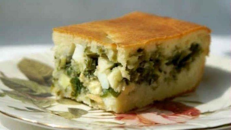 Пирог с луком и яйцом на кефире рецепт