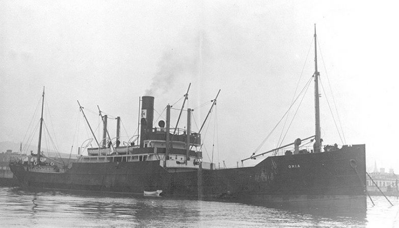 «Ориа», 14 февраля 1944 года. история, катастрофы, кораблекрушения, корабли, море