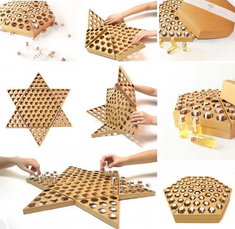 Упаковка для мёда, которую можно использовать для игры в китайские шашки. Дизайн — Funny Honey