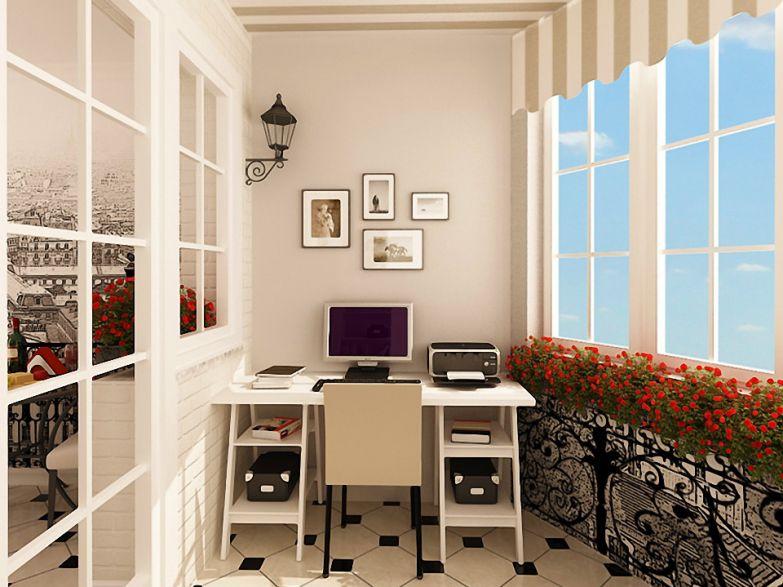 Кабинет на балконе в стиле прованс фото