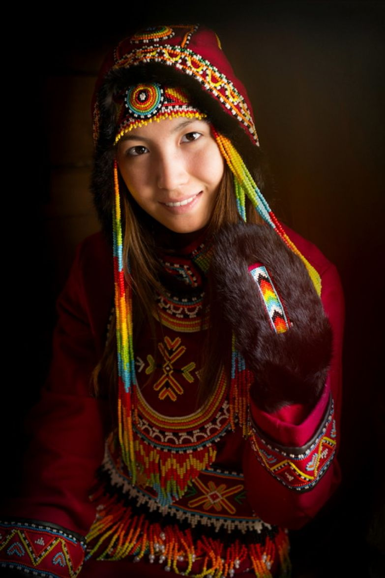 Представительница тюркоязычного народа долганы. Республика Саха, Сибирь.