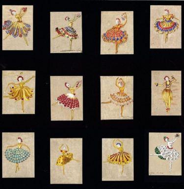 Эскизы первой коллекции балерин. Из архивов Cleef & Arpels