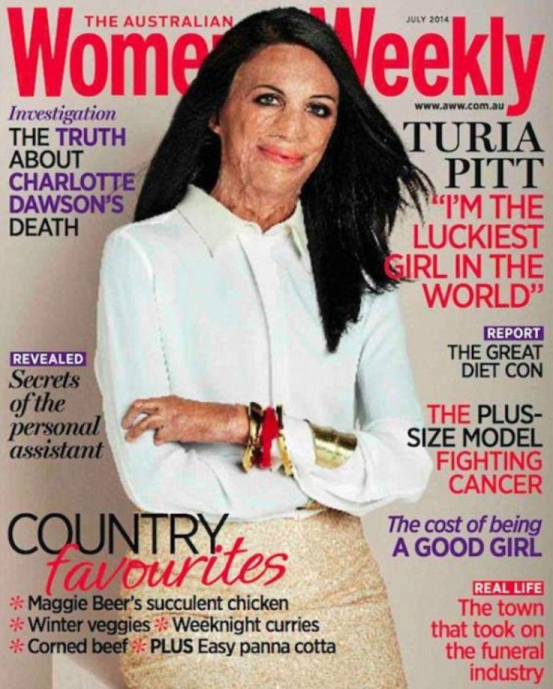 Турия Питт на обложке журнала