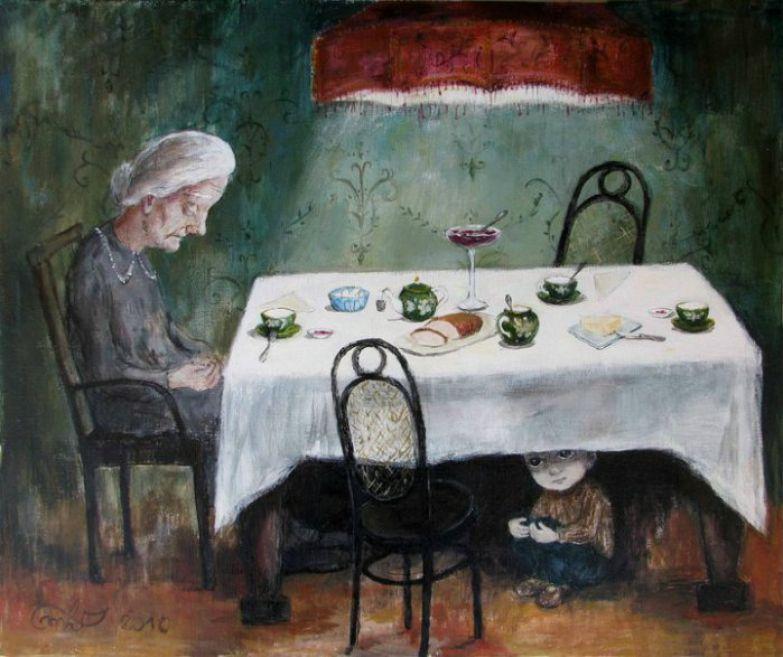 Картины, окутанные теплом и заботой. Автор работ: Нино Чакветадзе (Nino Chakvetadze).