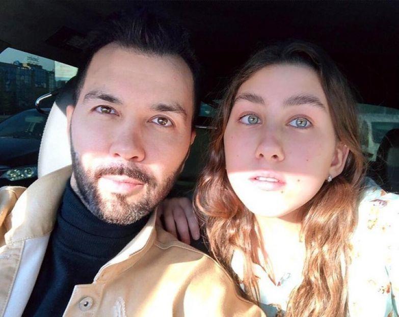 Денис с дочкой Эвелин