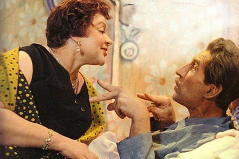 Зоя Фёдорова и Сергей Филиппов в фильме «Девушка без адреса», 1957 год