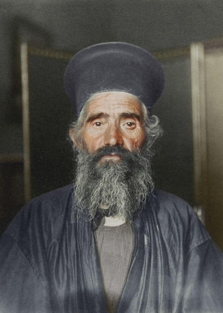 Греко-православный священник, 1910 история, костюмы, сша, эмиграция