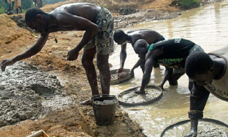 Алмазные копи в Африке. офис, профессии, работа, юмор