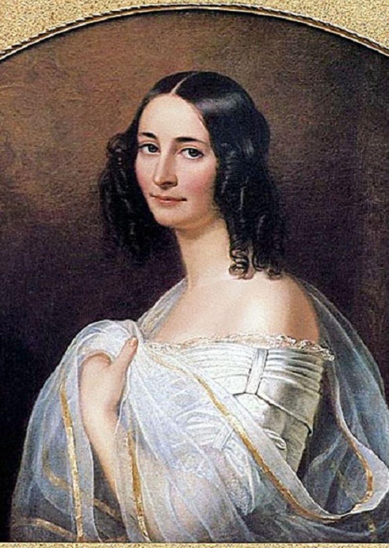 Эрнестина Тютчева, супруга Федора Тютчева. Ф. Дюрк, 1840 г. | Фото: liveinternet.ru.