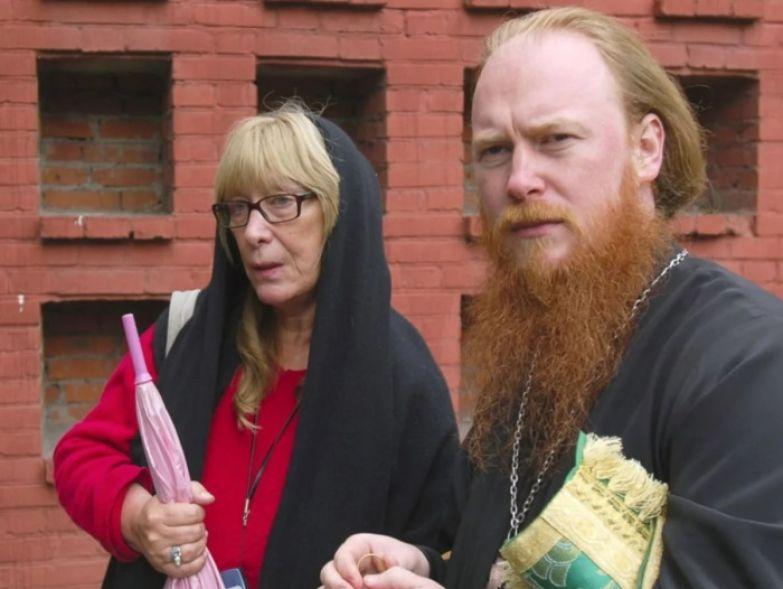 Екатерина Васильевна с сыном священником
