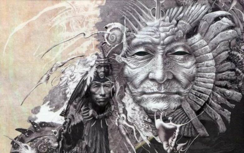 Иллюстрация к книгам Карлоса Кастанеды, (художник Владислав Ерко)