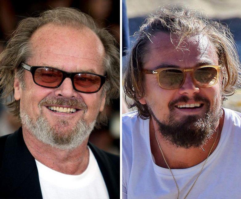 13. Джек Николсон и Леонардо Ди Каприо вещи, люди, похожие лица, схожесть