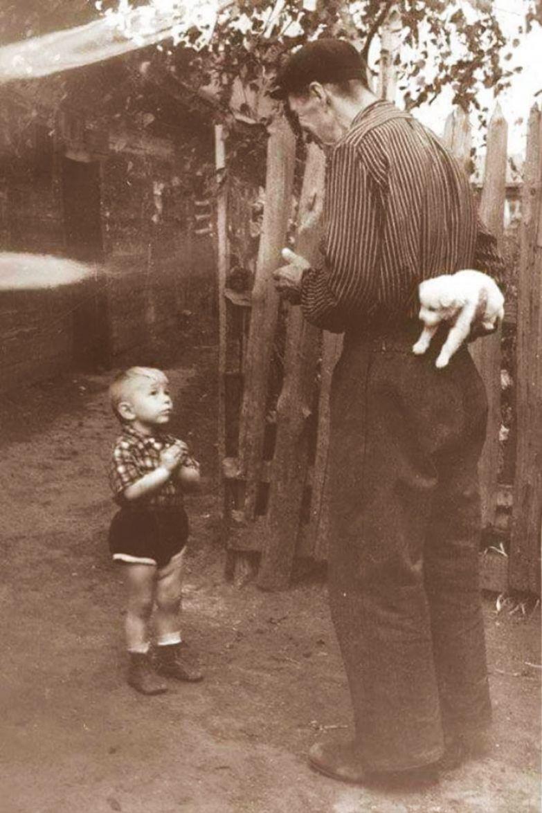 1. Несколько секунд до счастья, 1955 г. архивные фотографии, лучшие фото, ретрофото, черно-белые снимки