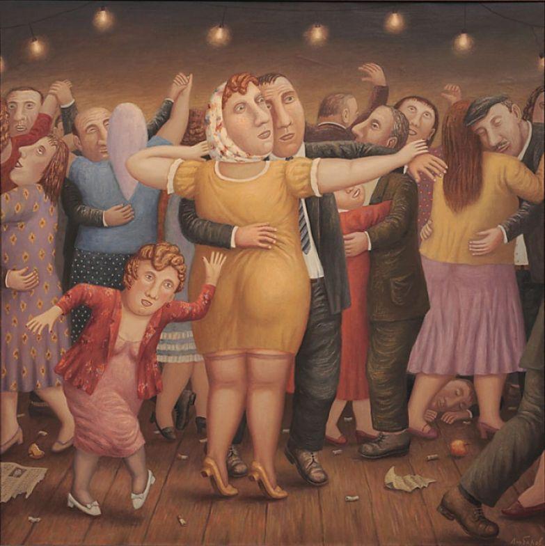 Танцы в сельской глубинке.