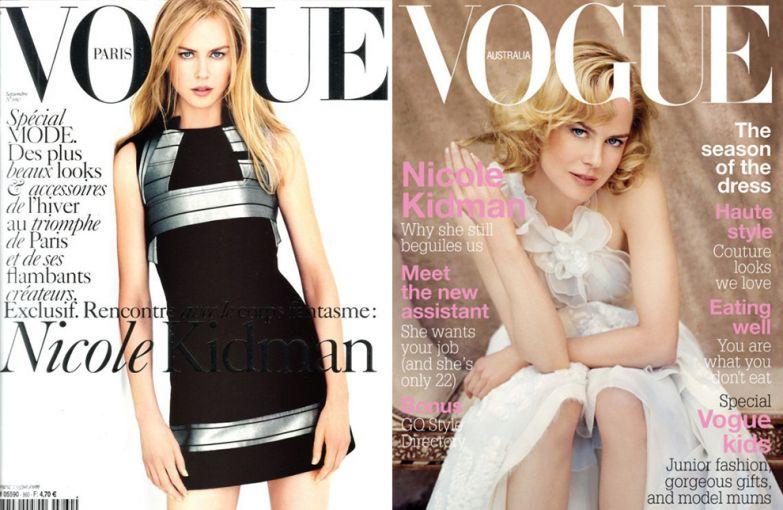 Vogue Paris, сентябрь 2005; Vogue Австралия, октябрь 2005