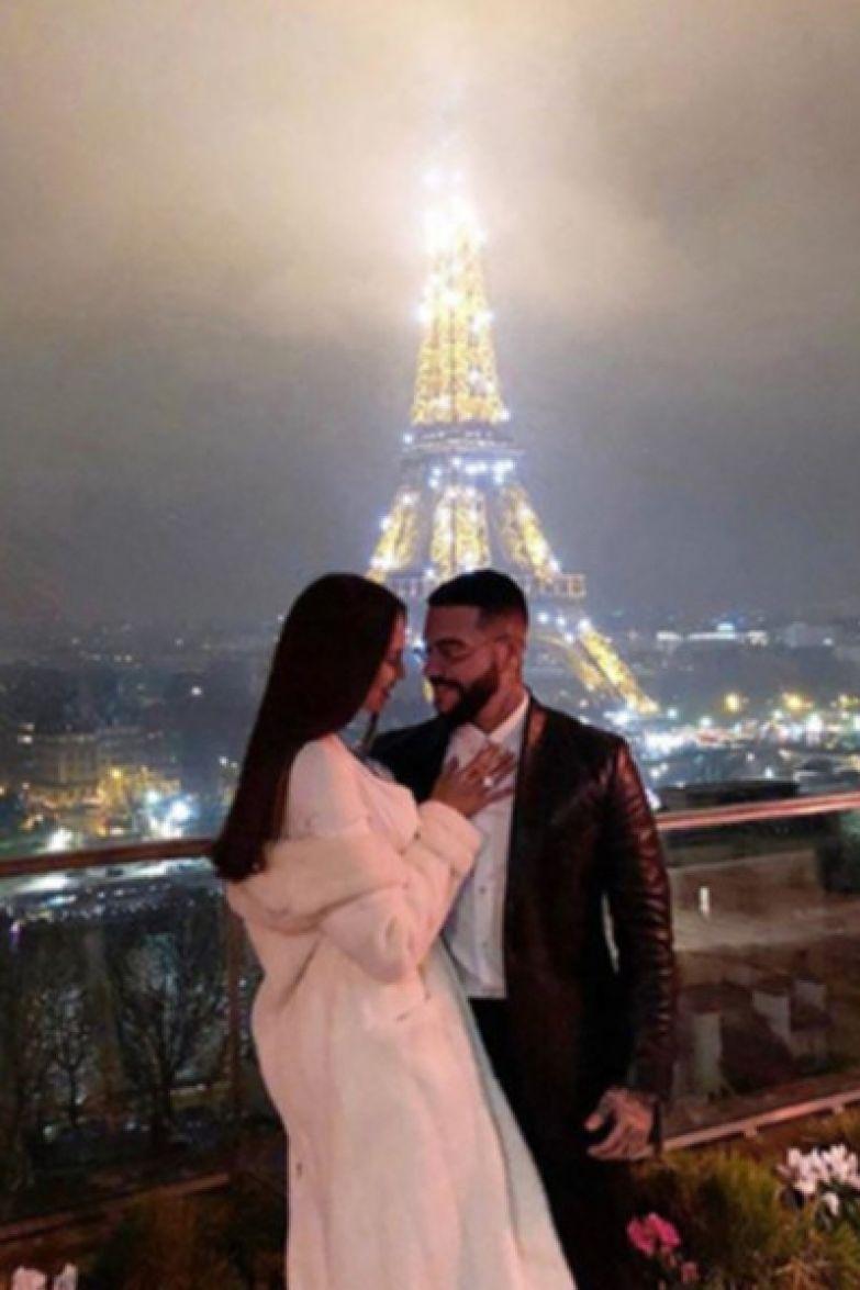 В прошлый Новый год Тимати сделал Анастасии Решетовой предложение на фоне Эйфелевой башни