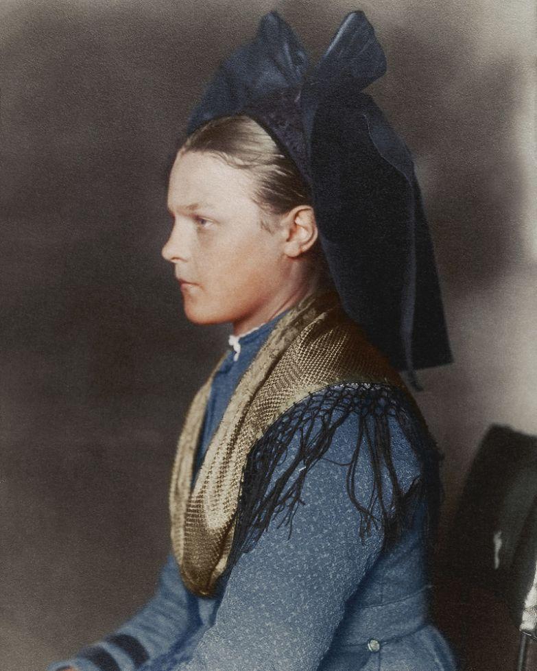 Девушка из Эльзаса-Лотарингии, 1906 история, костюмы, сша, эмиграция