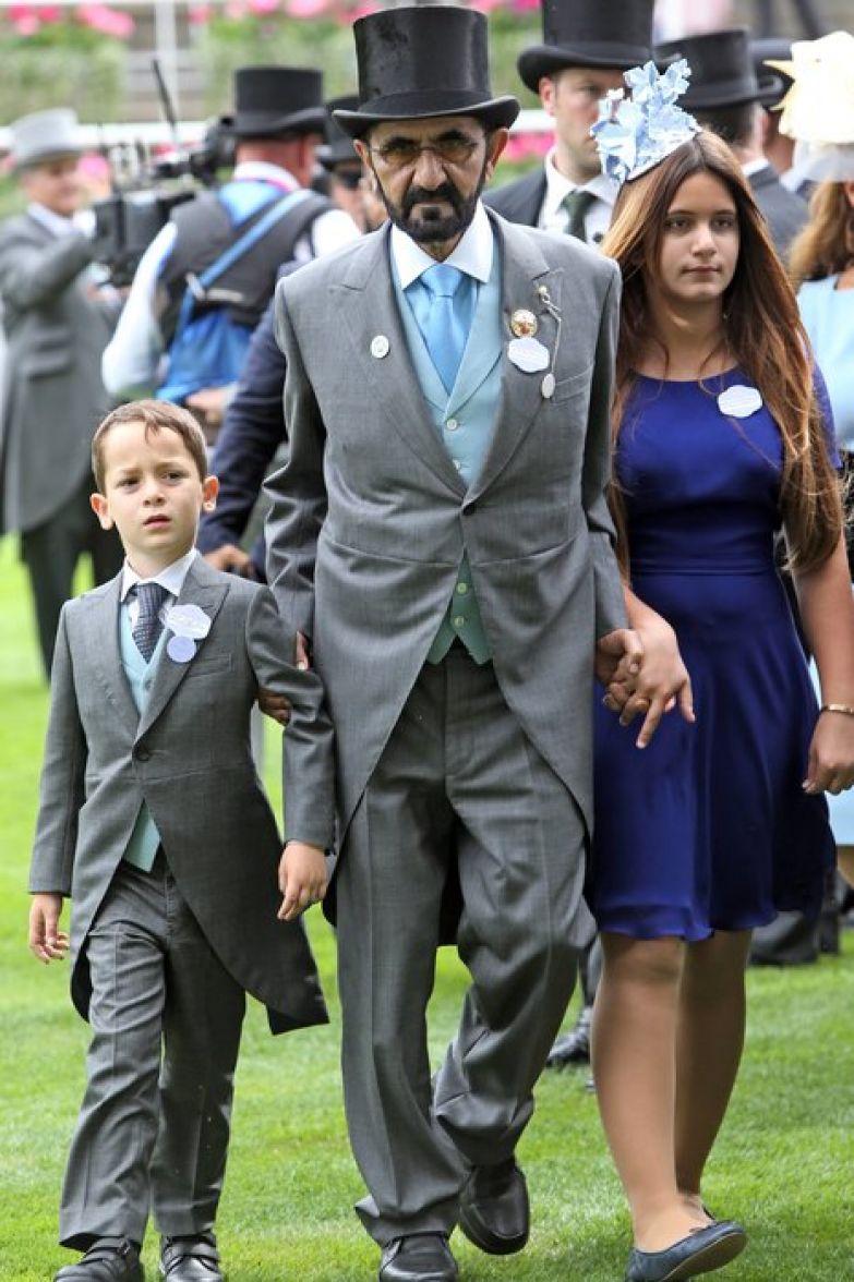 Эмир Дубая с детьми