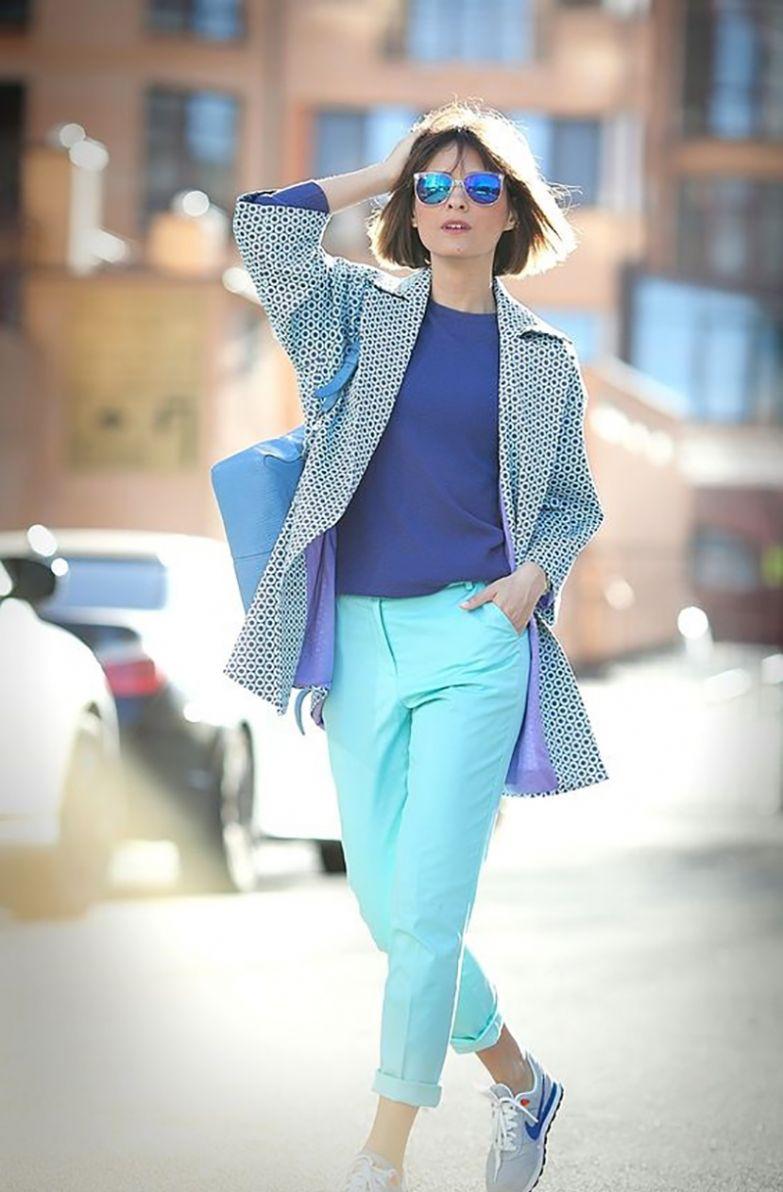 цветные брюки женские