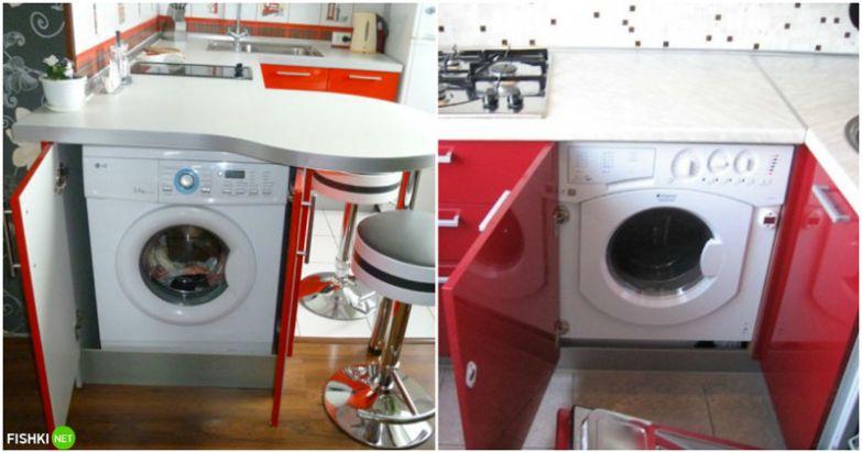 Извечный вопрос: куда поставить стиральную машину, чтобы не было видно... Просто спрятать ее в отдельный шкафчик! вещи, идеи, квартира, маскировка, полезное, решение