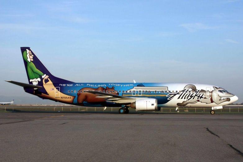 На Аляске очень красивые самолёты. необычные самолёты, раскраска, самолёты
