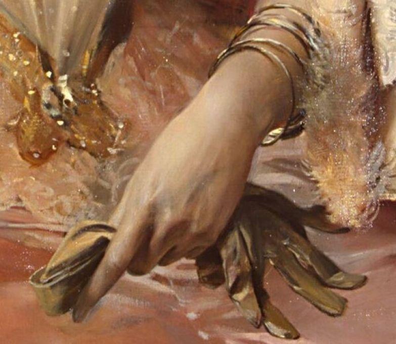 Зинаида Юсупова, Франсуа Фламенг, 1894. из коллекции Государственного Эрмитажа. Деталь