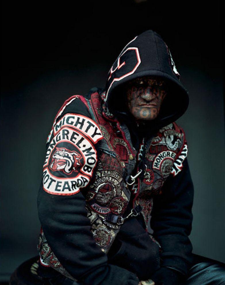 5. Член банды Mongrel Mob из Новой Зеландии люди, мир, фотоподборка