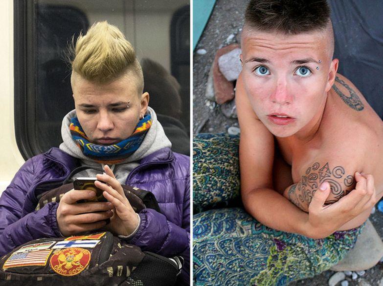 Забудьте об анонимности: российский фотограф опознал своих соседей в метро по страницам в соцсетях FindFace, Егор Цветков, соцсети, фотографии