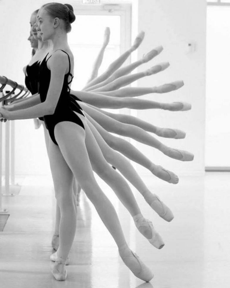 Фото балерин на тренировках