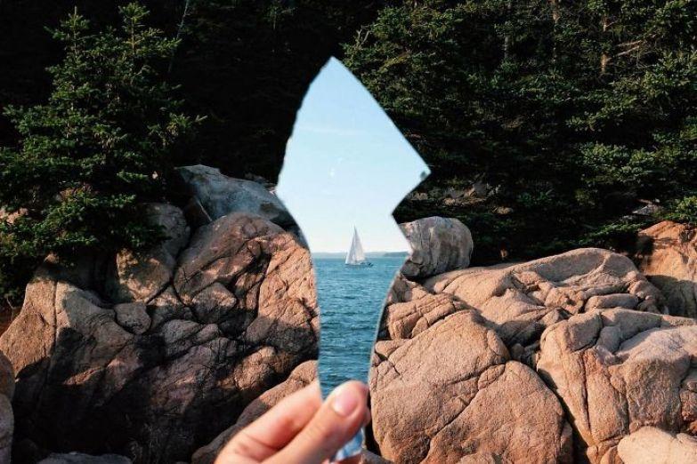 В осколке зеркала искусство, мастерство, фото