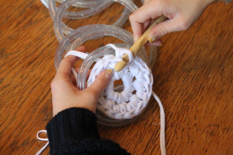 как связать коврик крючком для начинающих
