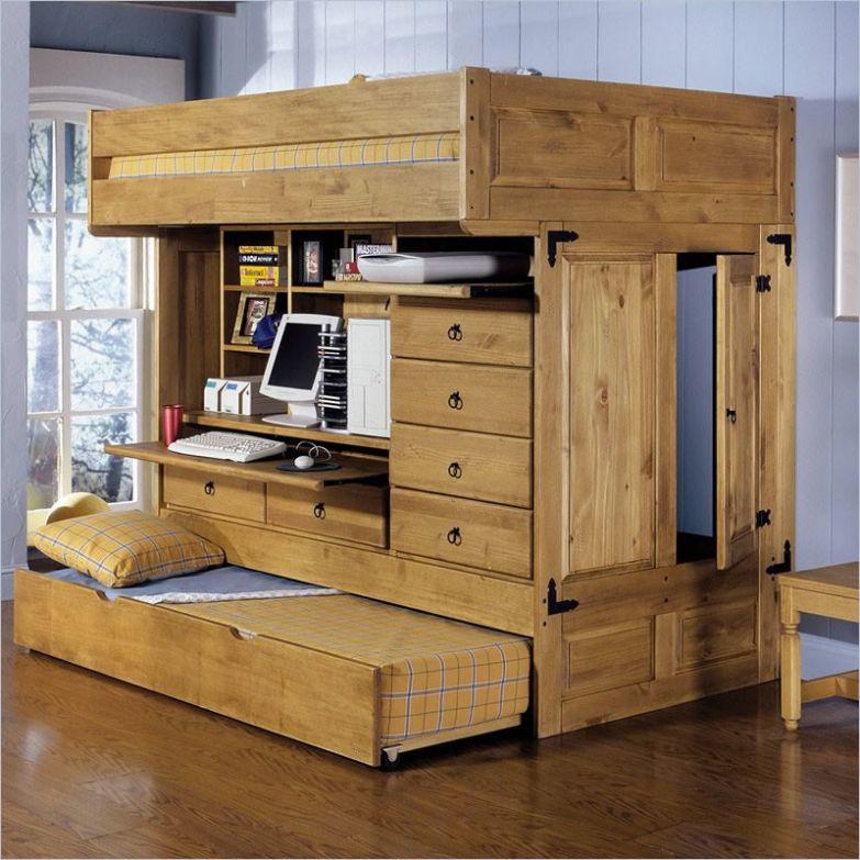 Вариант с дополнительным спальным местом, если у ребёнка но ночь остаётся друг, например двухъярусная кровать, дизайн, идеи, маленькая квартира