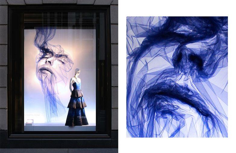 Девушки из тюля Бенджамина Шайна в витринах Bergdorf Goodman