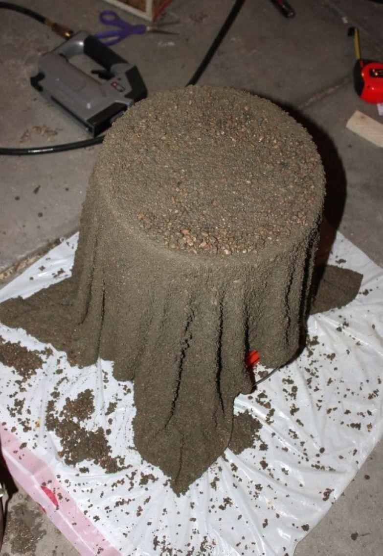 полотно в цементе