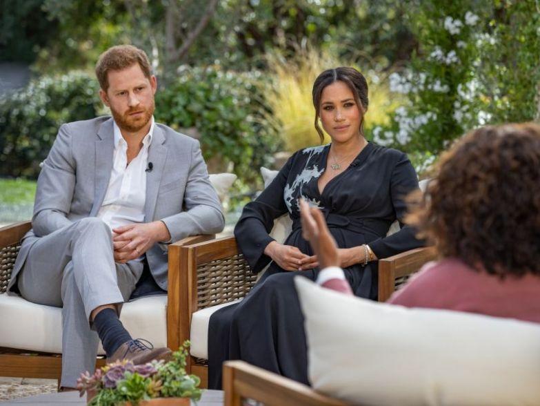 Меган Маркл и принц Гарри на интервью у Опры Уинфри