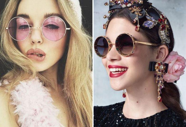 круглые очки от солнца 2018