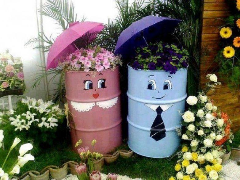 Горшочки для цветов из подручных материалов фото