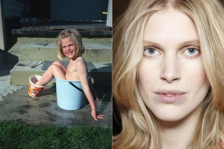 Как выглядели в детстве известные сегодня модели