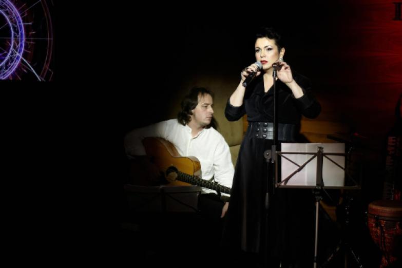 С Иваном Смирновым-мл. во время клубного концерта Фото Ирины Коротневой
