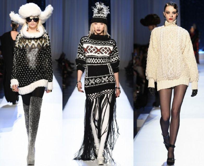Шикарные модели платьев-свитеров от мэтра французской моды Жан-Поля Готье