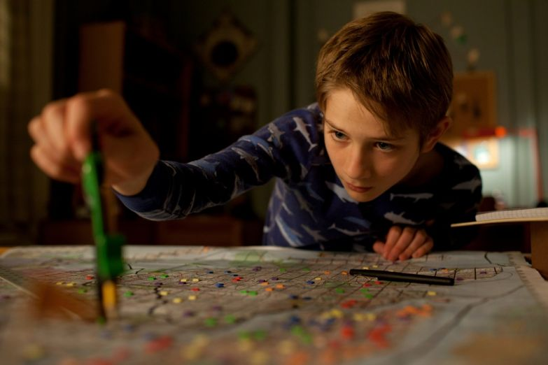 "THOMAS HORN as Oskar Schell in Warner Bros. Pictures' drama ""EXTREMELY LOUD & INCREDIBLY CLOSE,"" a Warner Bros. Pictures release."